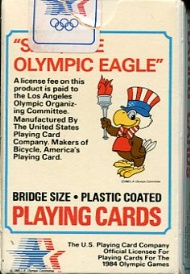 Sportboken - Playing cards Olympic Eagle olympic games 1984