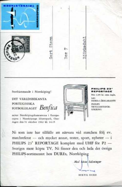 Sportboken Ifk Norrk 246 Ping Amp Benfica 1962